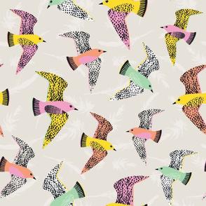 Swooping Birds - Spring