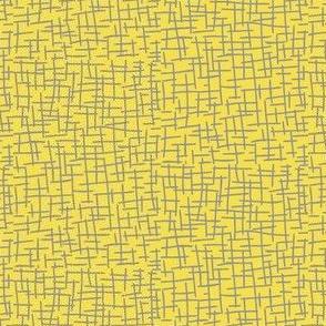 Sketchy Mesh of Ultimate Grey on Illuminating Yellow