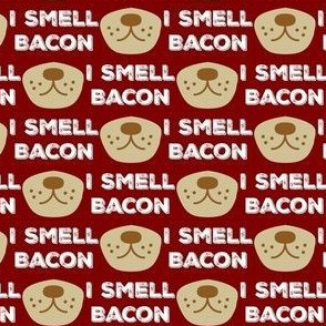 smell bacon, red