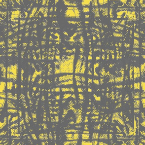 Flowing Totem #3 Gray on Yellow