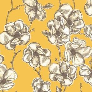 Vintage Magnolias Mustard