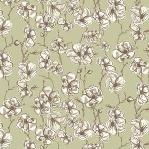 Vintage Magnolias Olive