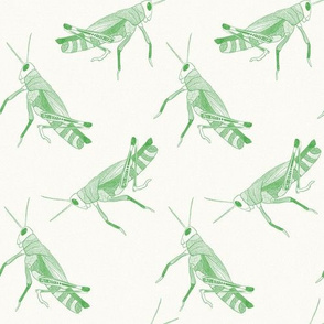 Grasshoppers Repeat - Small Scale {Green}