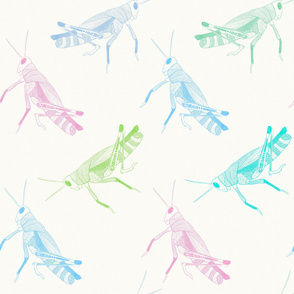 Grasshoppers - Large Scale {Pastels}