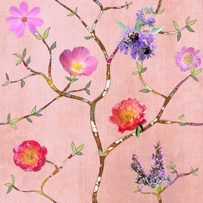 Chinoiserie Garden In Pink