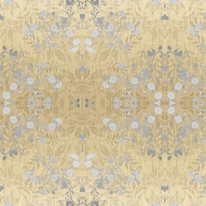 damask-silver gold foil