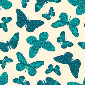 Butterflies At The Museum - Teal