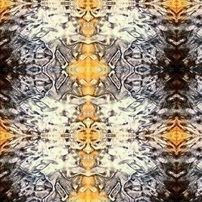 Yellow, Black & Cream Kaleidoscope Plaid