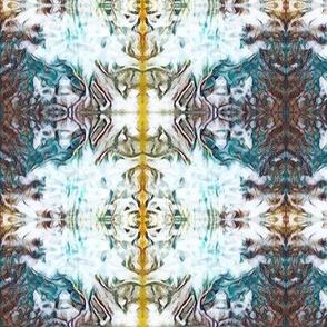 White, Teal & Yellow Kaleidoscope Plaid