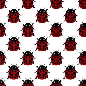 Ladybugs in formation