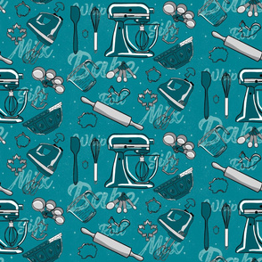 Baking Tools in turquoise