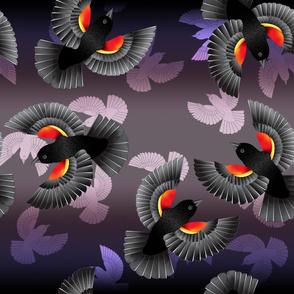 Red-Winged BlackBird (Violet)