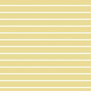 Custard Pin Stripe Pattern Horizontal in White