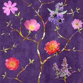 Chinoiserie Garden in Violet