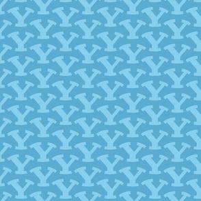 Light Blue BYU Logo