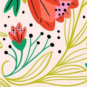 Swirling florals