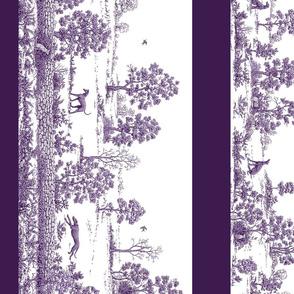Purple Borders Greyhound Toile