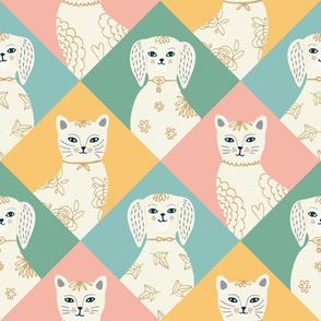 Harlequin Pets - diamond quilt