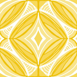 Ojo de Dios Protection, yellow, Table Cloth size