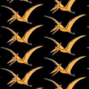 Cute Pteranodon - on black half drop