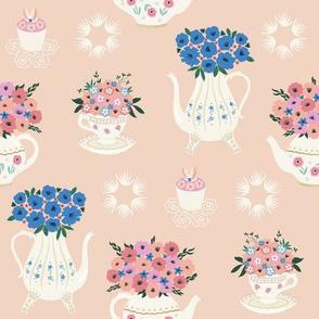 Teatime Floral - peach