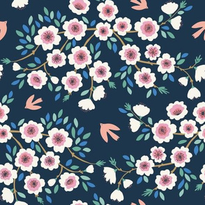 Through The Blossom - peach