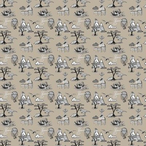 Toile Bad Dat Patternin Black_And_Beige