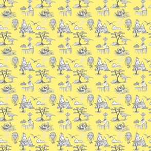 Toille Bad Day Pattern_-_Grey_And_Yellow