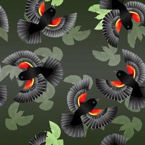 Red-Winged BlackBird (Green)