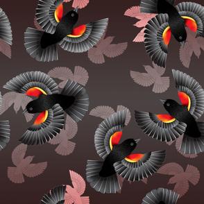 Red-Winged BlackBird(Red)