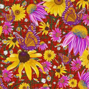 lg-Pat's wildflower on red weave