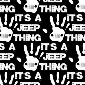 jeep thing white/black 2""