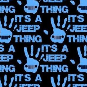 "jeep thing blue/black 2"""