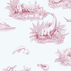 Dino Toile Pattern Red