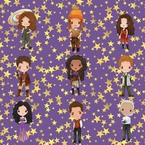 Firefly on Purple Stars