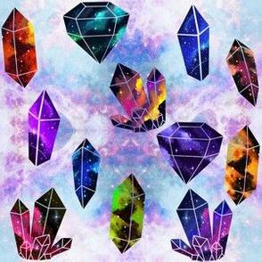 Galaxy Crystals on Cotton Candy Galaxy