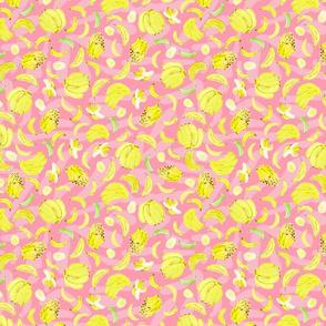 Yellow Bananas and Pink Shapes