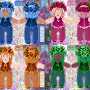1 Yard 4 Dolls Festive Fairies