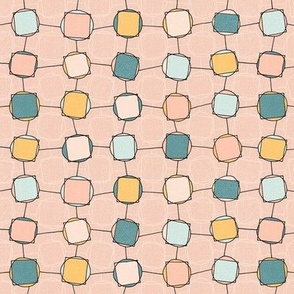Square Pegs Round Holes - pale coral