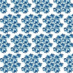 Tribal art blue pattern