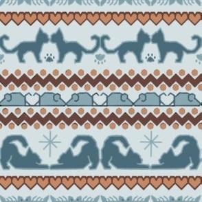 Cat Kitten Fair Isle Knit