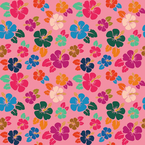 Normal scale • Hawaiian flowers pink