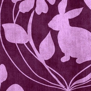 Spring In The Air Damask Violet Large Scale