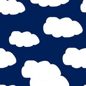 Clouds Navy Blue