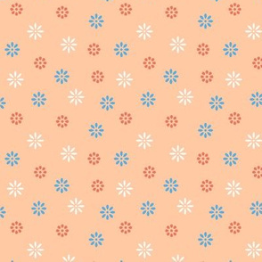 Simple Colorful Flowers #001