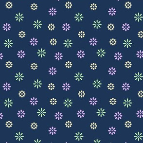 Simple Colorful Flowers #002