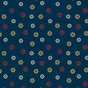 Simple Colorful Flowers #003