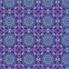Purple Carnival Mandala Pattern
