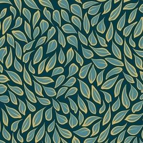 Leaf Shimmer | Deep Teal