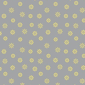 Simple Colorful Flowers #009 - Ultimate Gray & Illuminating